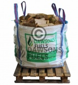 Tote Bag Of Kiln Dried Ash Logs and 4 Nets of Kindling Sticks