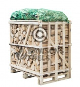 Medium crate of kiln dried Birch with 4 x nets of Kindling Sticks