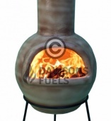 Asteria Extra Large Clay Chimenea - Cappucino