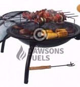 Lucio Fire Bowl with Rotisserie Accessory