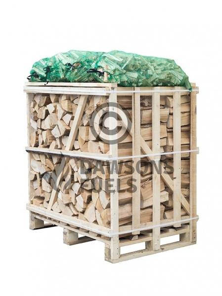 Medium sized crate of kiln dried Ash logs with 4 nets of kindling sticks